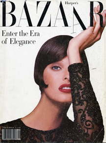 Hoefler & Frere-Jones给Harper's Bazaar设计的字体,是对Didot风格的现代演绎。