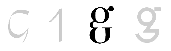 A double-story g by P. Didot