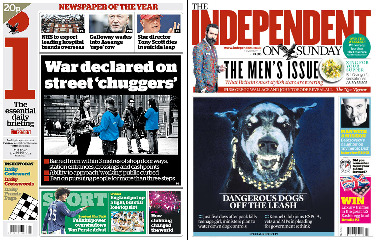 i and The Independent on Sunday