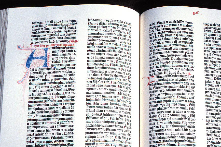 Facsimile of the Gutenberg Bible