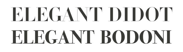 Didot & Bodoni