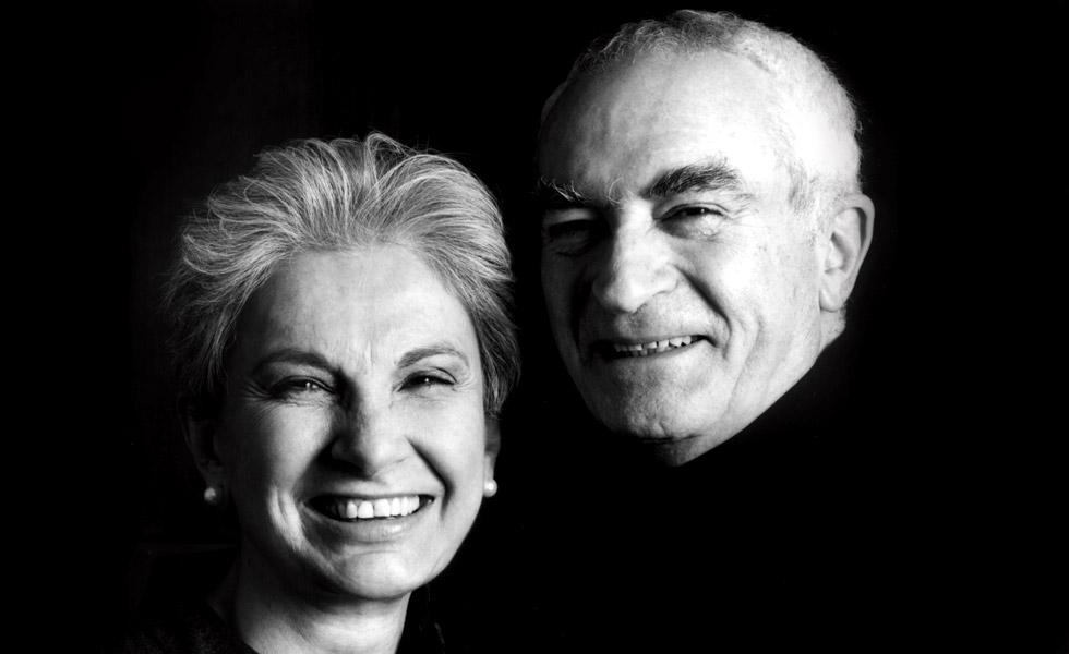 Massimo 和妻子 Lella。Lella Vignelli 仍然健在。 (图:idsgn)