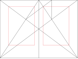 揚·奇肖爾德在其著作《書籍的形式》(The Form of the Book)介紹了范德格拉夫(Van de Graaf) 用於書籍版面設計的理想比例。